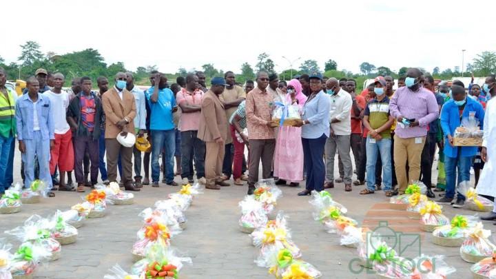 Jeûne musulman/ Iftar de Gestoci Yamoussoukro : Les clients de l'hinterland reçoivent des kits alimentaires pour mieux observer le jeûne