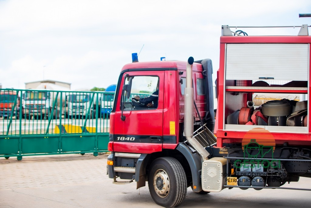 GESTOCI - Intervention du camion incendie GNONKLAHA